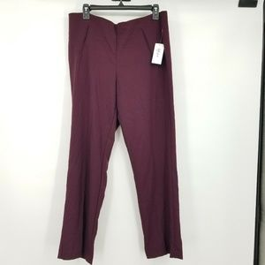 Style & Co 12 Caberne Straight Leg Pants 8BF23